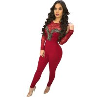 Cold Shoulder Lace Stitching Jumpsuit