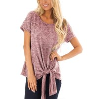 Causal Solid Women's T Shirt Short Sleeve Tunic Summer Blouse