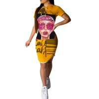 Printed Hooded Club Dress