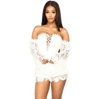 First Kiss Long Sleeve Romper - White