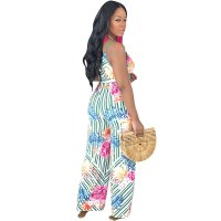 Bohemian Floral Printed One-piece Jumpsuit
