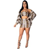 Lady Snake Print 3 Pieces Set