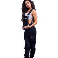 Embroidery Letters Sports Camisole Jumpsuit Pants