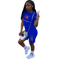 Casual Letter Embroidery Sports Pant Set