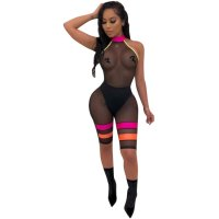 Mesh Sleeveless See Through Bodysuit