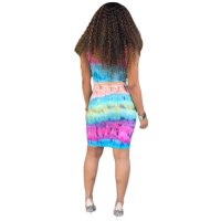 Casual Sling Printed Tie Dyed Midi Dress