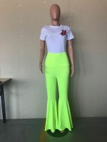 Candy-colored Flared Pants