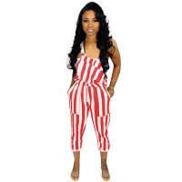 Casual Striped Sling Jumpsuit