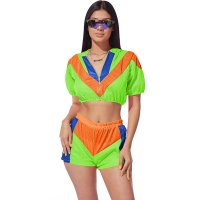 Casual Mesh Stitching Two Piece Outfits