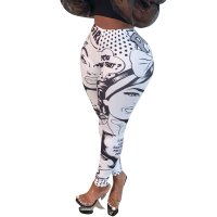 Casual Cartoon Avatar Printed Pants