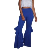 Casual Ruffled Flared Pants