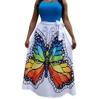 Casual Printed Butterfly Skirt