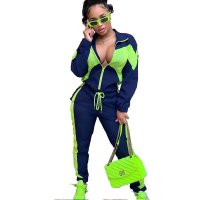 Casual Color Matching Sports Jumpsuit