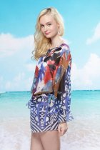 Gauzy Artistic Beach Dress L3712