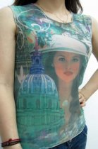 Uptown Girl Tattoo Sleeveless T-shirt L9831