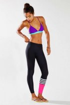 Striped Panel Surf Legging L97034