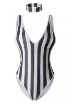 V-Neck Sleeveless SwimSuit L32599-1