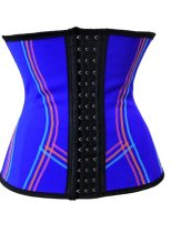 Blue Steel Boned Latex Underbust Corset L42640