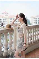 V neck knit  Beach Dress L38195