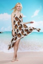 Tiger Pattern Beach Cover-up L3749