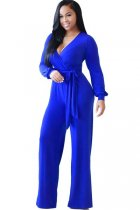 Belted Long Sleeves Jumpsuit L55283-1