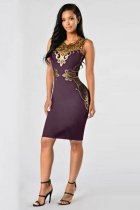 Plus Size Sleeveless Party Dress L36139-1