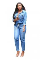 Denim Women Fashion Jumpsuits L55213