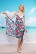 Sunflower Strap Beach Cover-up L3735