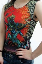 Dancing Ghost Tattoo Sleeveless T-shirt L9829
