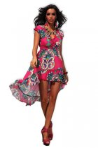 Gorgeous Rhodo Print Boho Summer Sun Dress Beach L5057-3