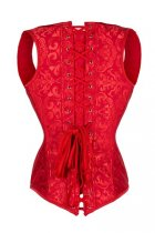 Steel Boned Noble Red Jacquard Waist Cincher Vest Corset L42664-