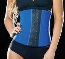 Blue 9 Steel Boned Latex Underbust Corset L42632-1