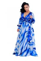 Ramona Wrap Dress Blue 51407