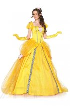 Women's Deluxe Beauty and the Beast's Princess Belle Ball Gown Disney Costume 15517