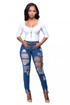Slay Frayed Ripped Jeans 571