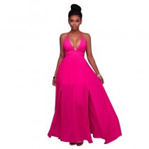 Aliza Pink CutOut Maxi Dress 51430-2