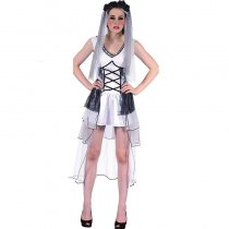 Deathly Bride Ladies Halloween Fancy Dress Costume 1020