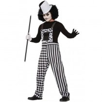 Black and White Checkered Harlequin Clown Overalls