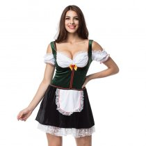Green /White Beer Girl Fancy Dress