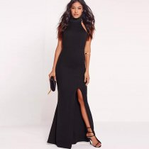Black Choker Evening Dress