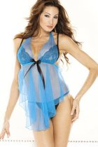 Mesh Halter Babydoll and G-String L2472-2