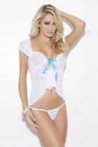 White Mini Bridal Babydoll