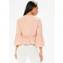 Sexy Puff Sleeves Ruffles Open Front Jacket Short Blazer Outwear
