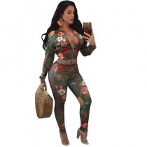 Mazika Green Printed Two Piece Set