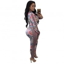 Mazika White Printed Two Piece Set
