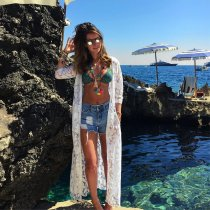 Lace Front Pocket  Beach Cover Up