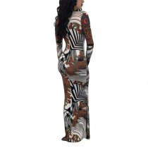 Paisley Abstract Maxi Dress