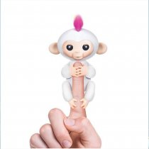 Interactive Baby Monkey - Sophie (White with Pink Hair)