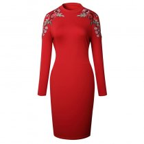 Women's Floral Bodycon Dress