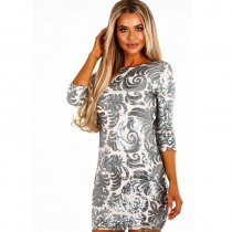 The Life Nude And Silver Sequin Mini Dress